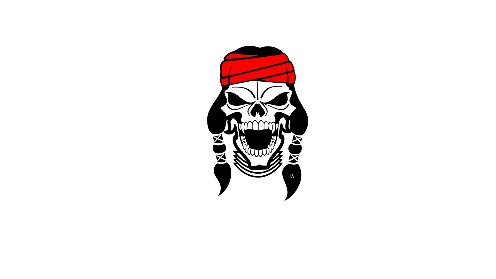 Wallpaper skull skull indian apache wallpapers minimalism 1920x1080
