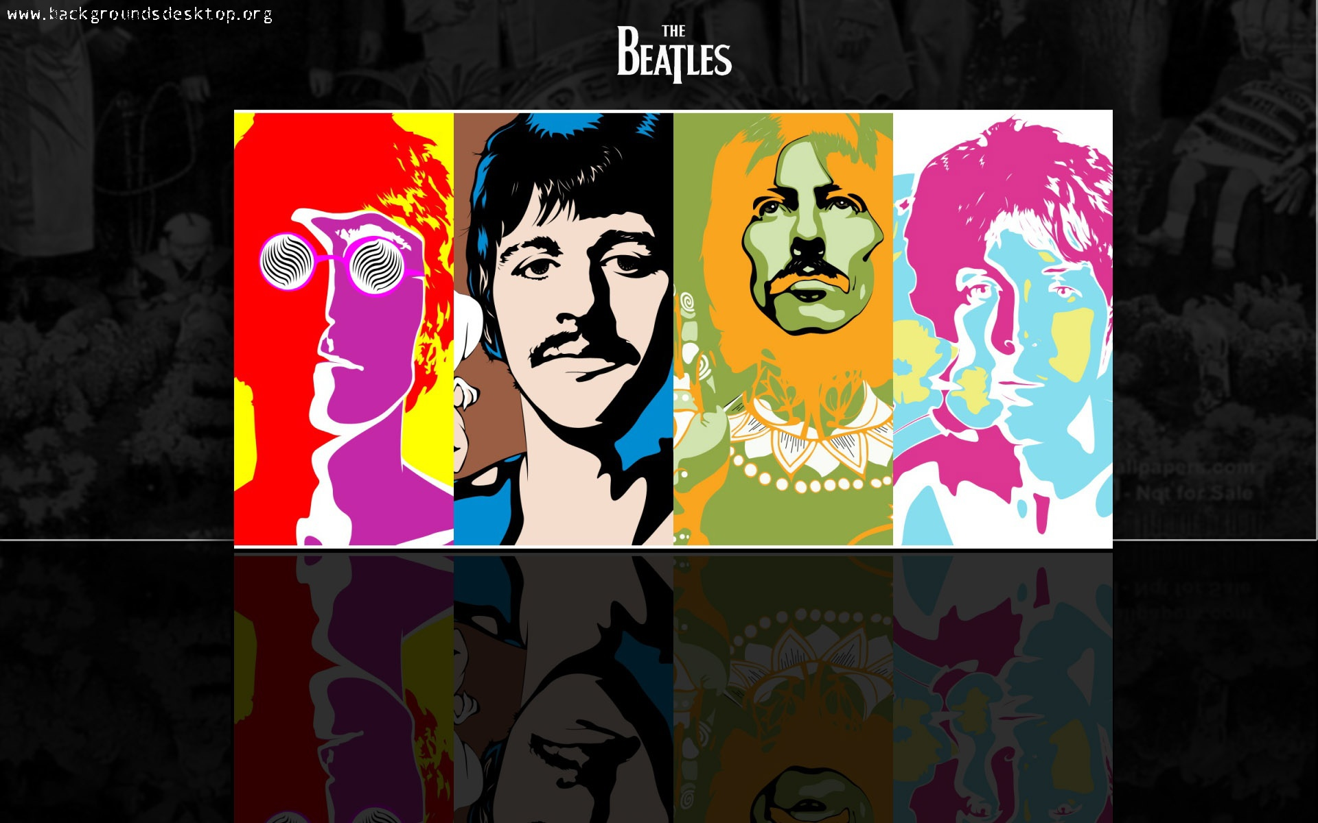 Painting Andy Warhol The beatles wallpapers and images   wallpapers 1920x1200