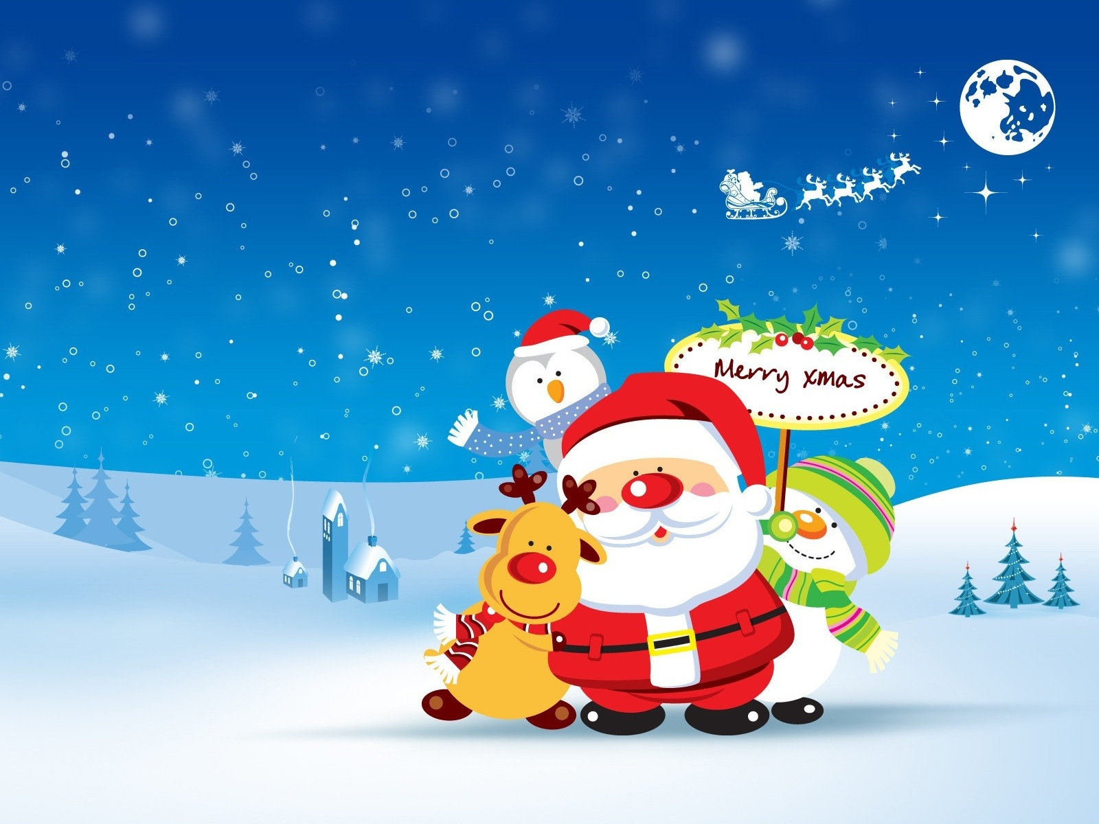 Cute Merry Christmas Wallpaper   HD Wallpapers 1600x1200
