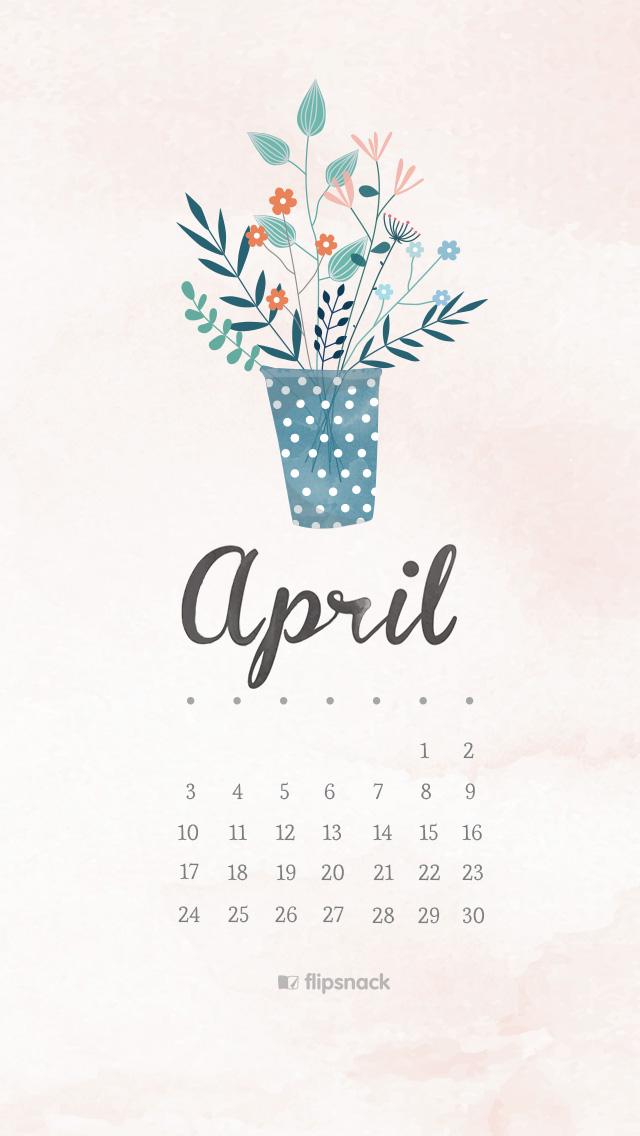 April quotes amp Desktop wallpaper calendar Aprilie 2016 640x1136