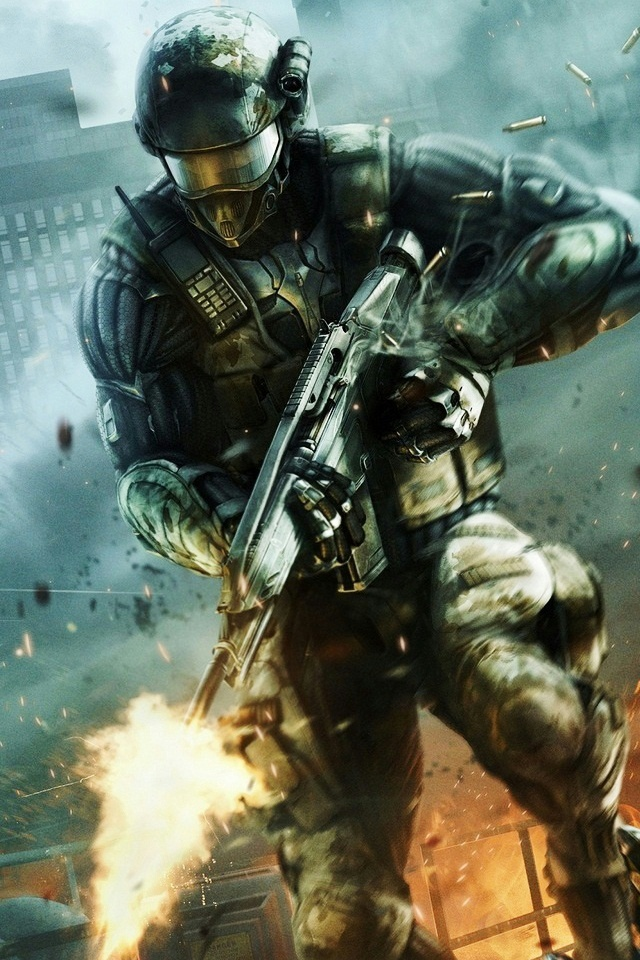 Crysis 2 Force Recon Marine iPhone 4 Wallpaper and iPhone 4S Wallpaper 640x960