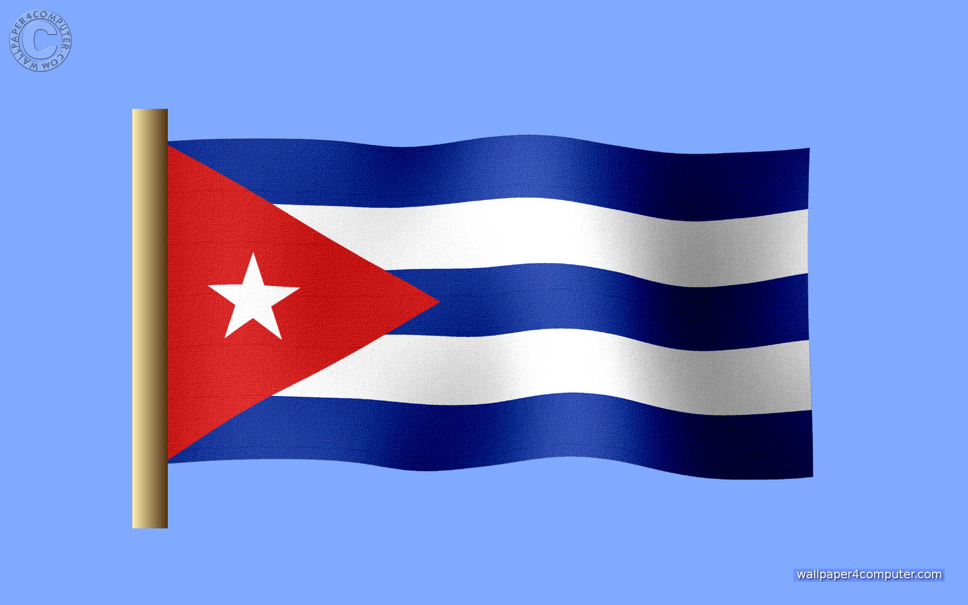 Cuban Flag Wallpaper 1920x1200