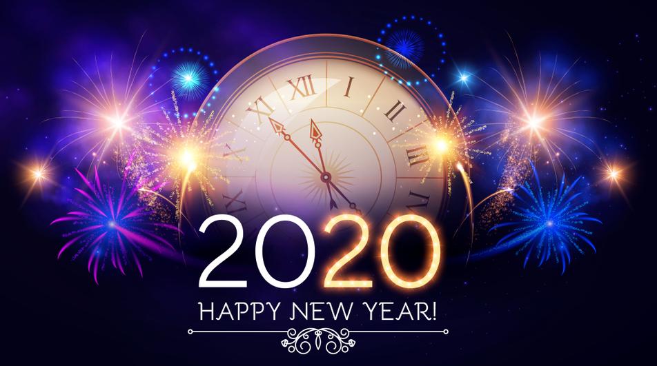 Happy New Year 2020 Wallpaper in Arabic Hindi English and Urdu 952x531
