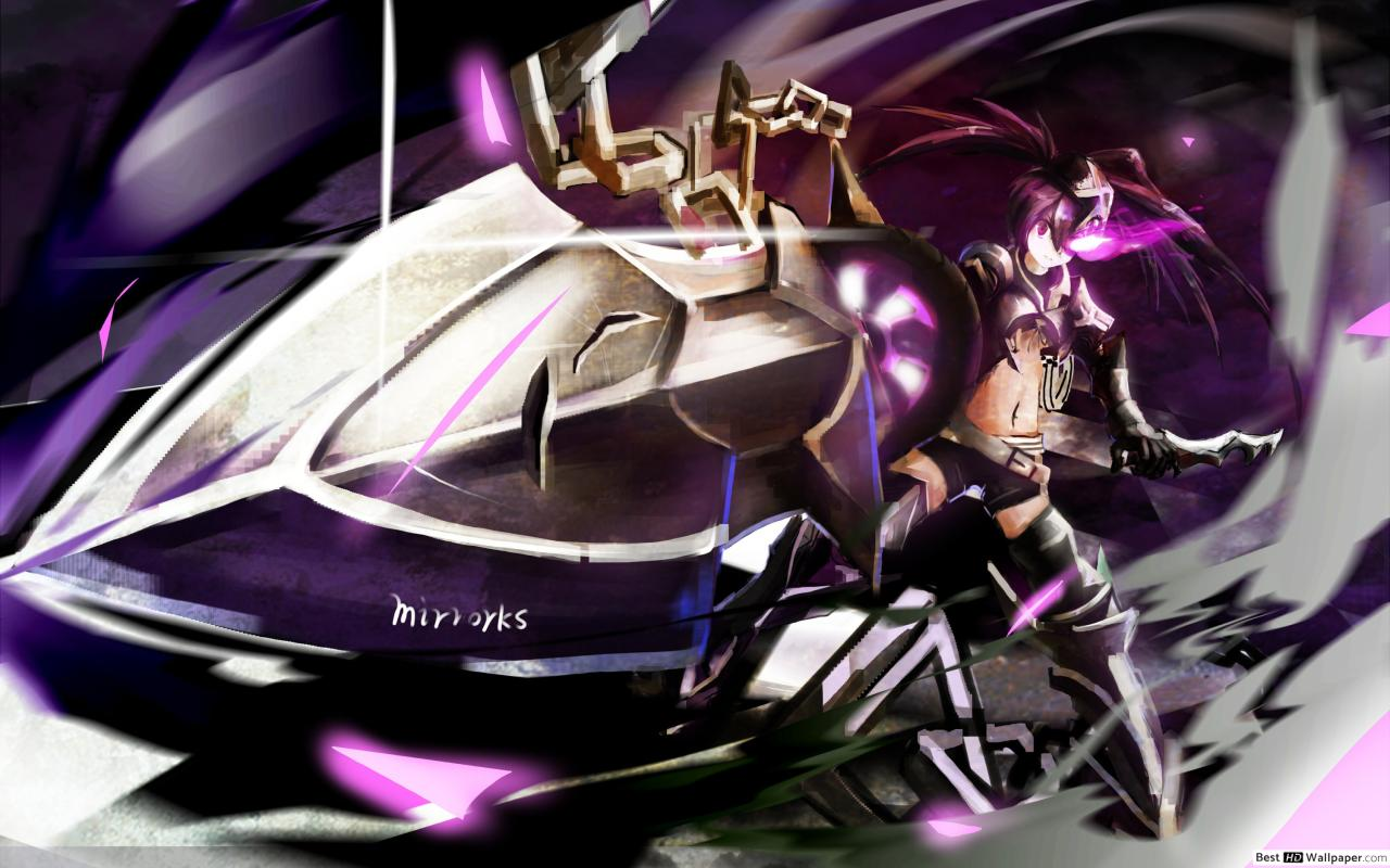 IBRS Black Rock Shooter HD wallpaper download 1280x800
