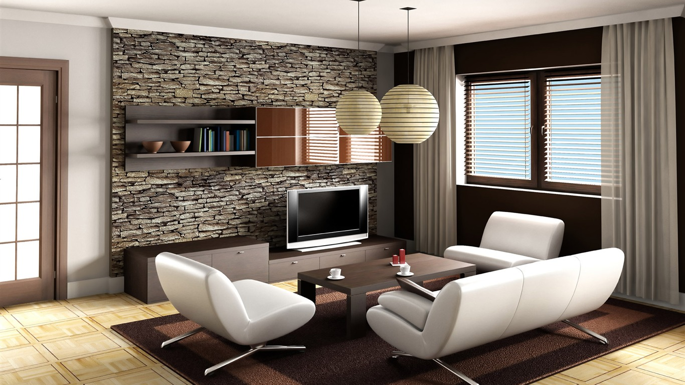 Living Room Wallpaper Designs 1366x768