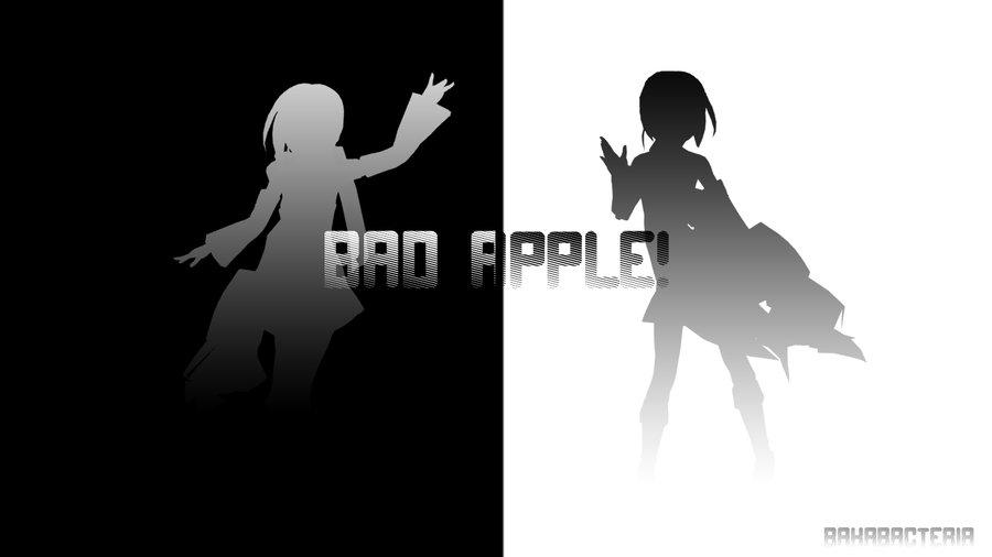 Bad Apple Wallpaper Tanashi 2 by BacteriaNeko 900x506