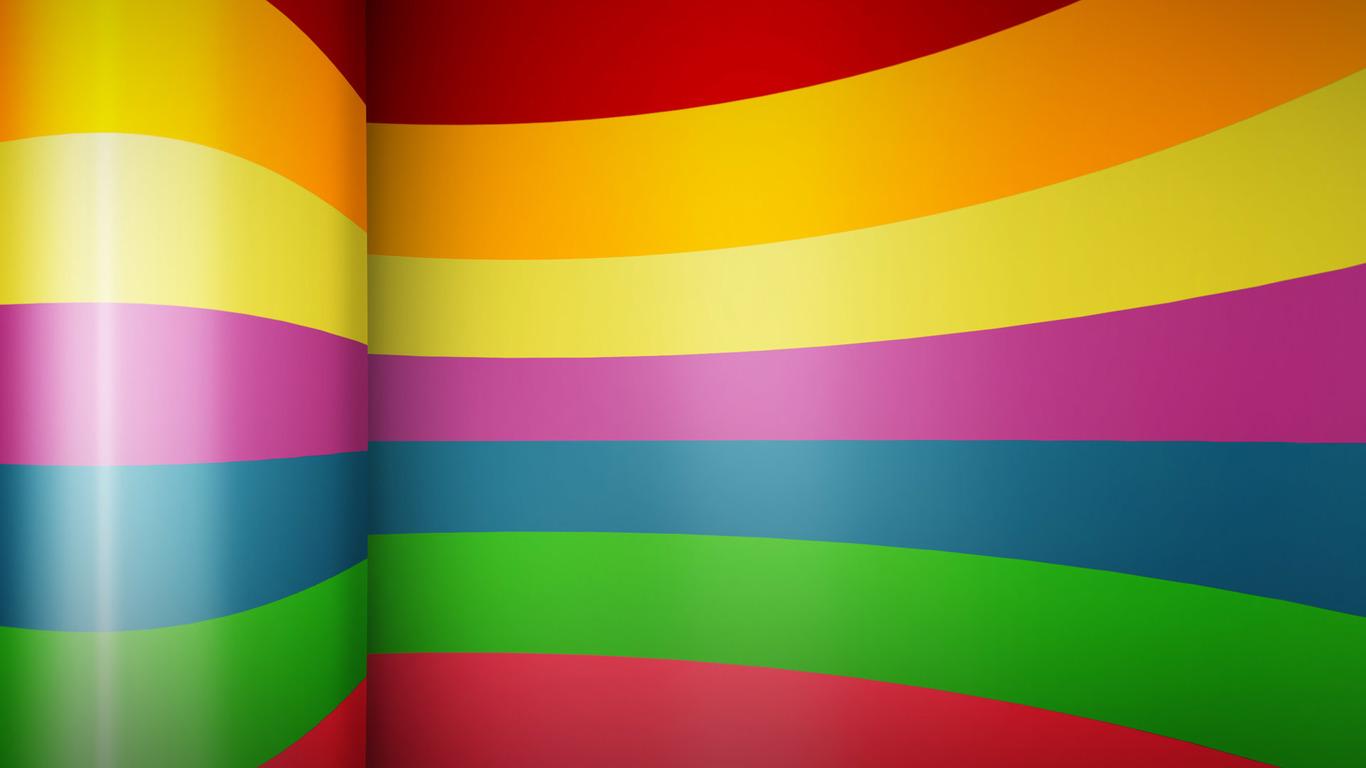 Horizontal rainbow stripes Widescreen Wallpaper   15174 1366x768
