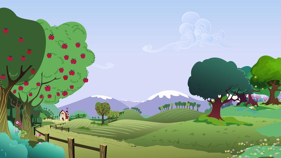 Background Scenery Hillside Farm by TimeImpact 900x506