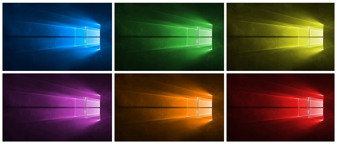 Rainbow Hero   The Windows 10 Hero Wallpaper CustomizerDownloader 1098x471