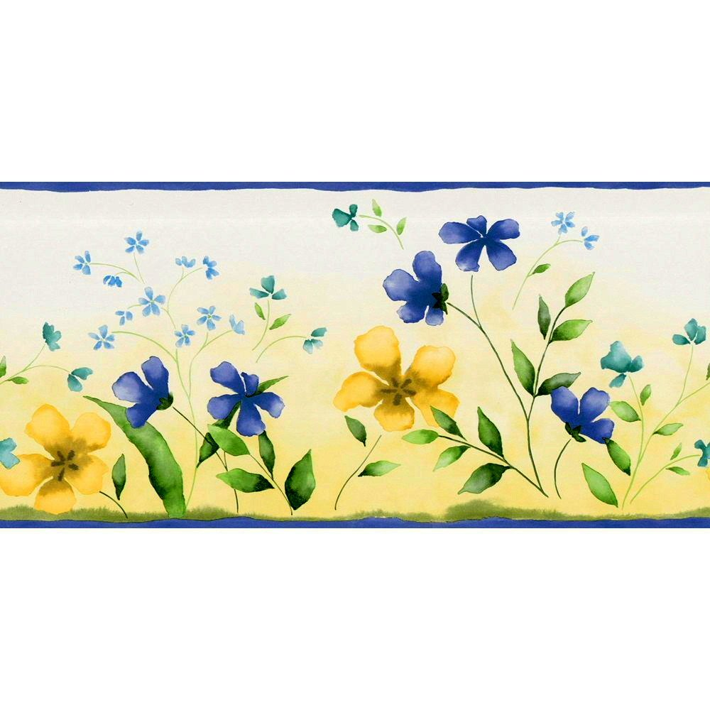 Free Download Waverly Fresh Picked Floral Wallpaper Border