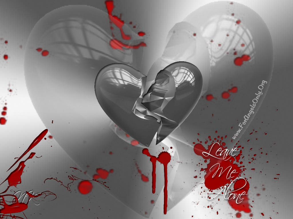 Download Wallpapers Backgrounds Emo Heart Love Hurts Broken 1024x768