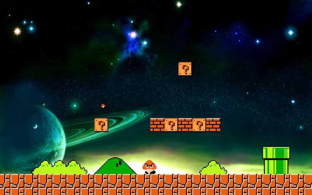 Bit Super Mario Wallpaper Background Theme Desktop 1024x640