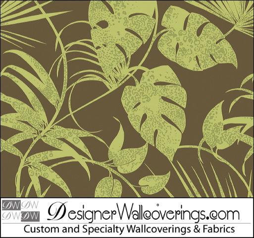 Haiti Wallpaper Print   large tropical leaves [TAB 79040] Designer 513x480