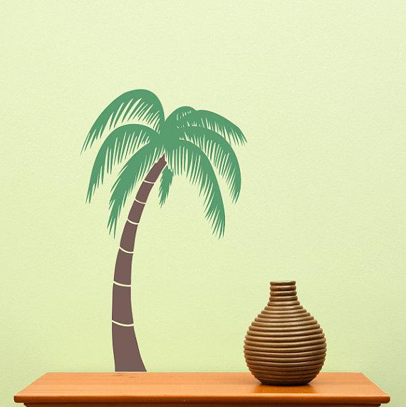 Palm Tree Wall Decal Medium 21 inches Tropical wall art 570x571
