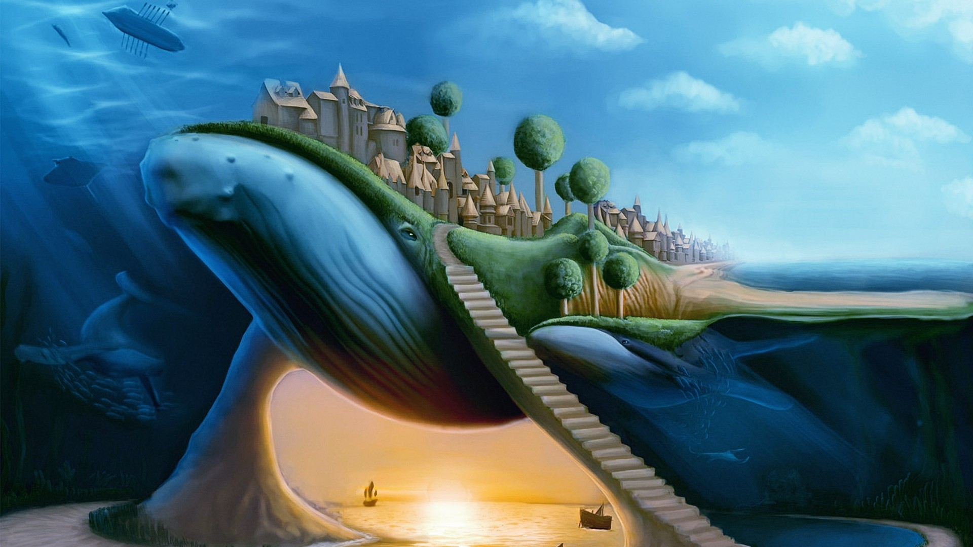 Tablet Backgroundsanimals Fantasy Surreal Funny Images Ocean 1920x1080