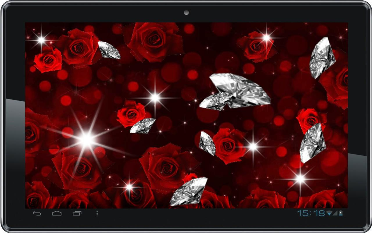 Rose Diamond 3d Live Wallpaper   screenshot 1280x800