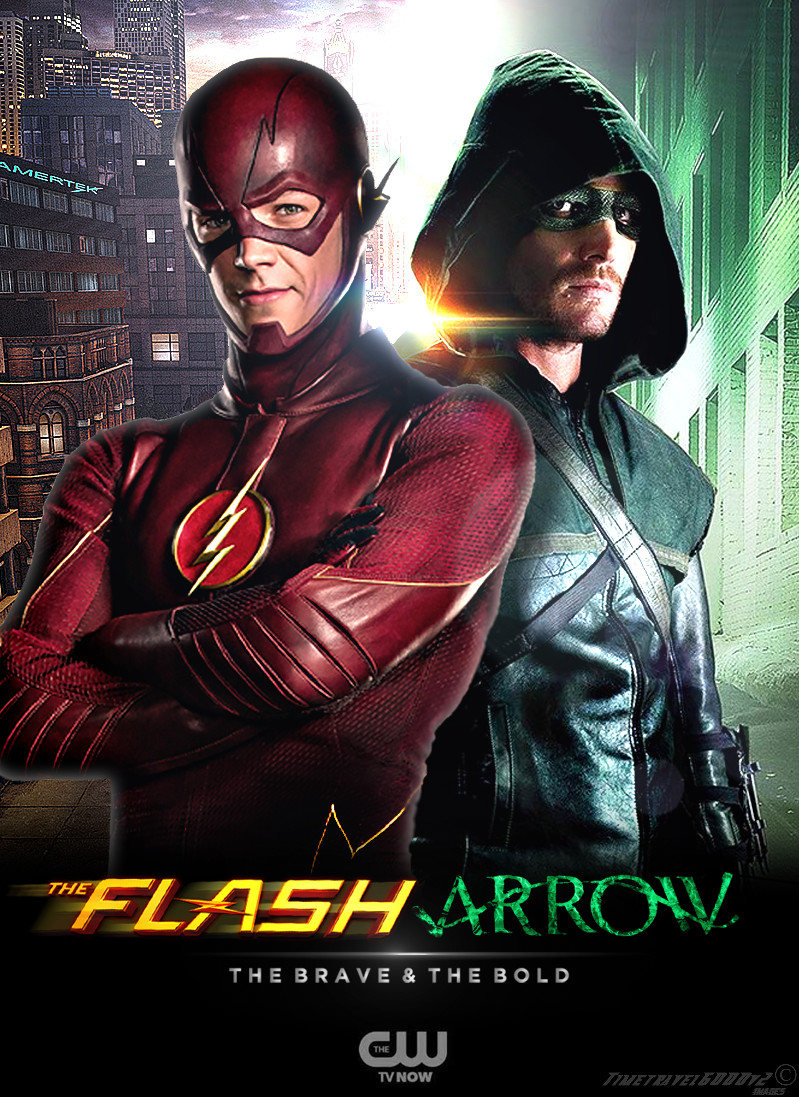 The Flash and Arrow TV Poster by Timetravel6000v2 799x1097