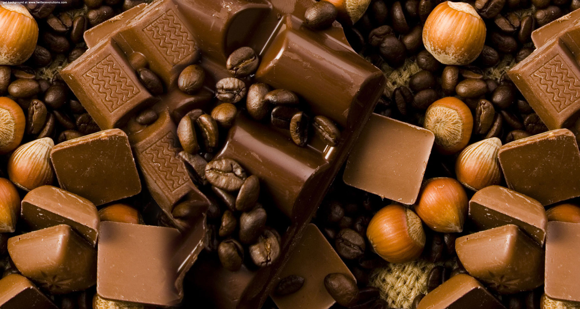 Chocolate nuts Twitter background   Twitterevolutions 1920x1024