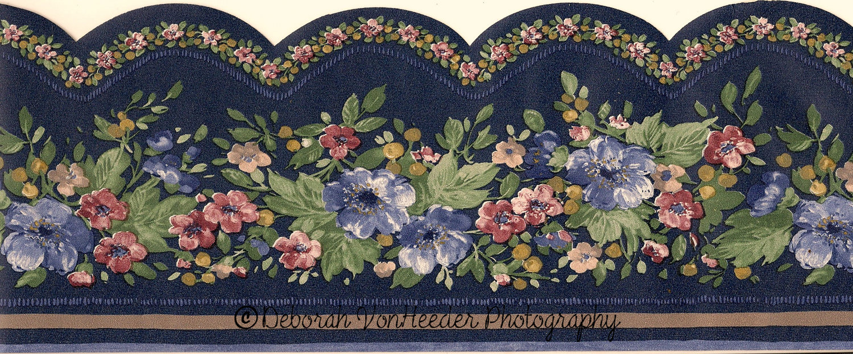 Floral Scalloped Wallpaper Borders Wallpapersafari