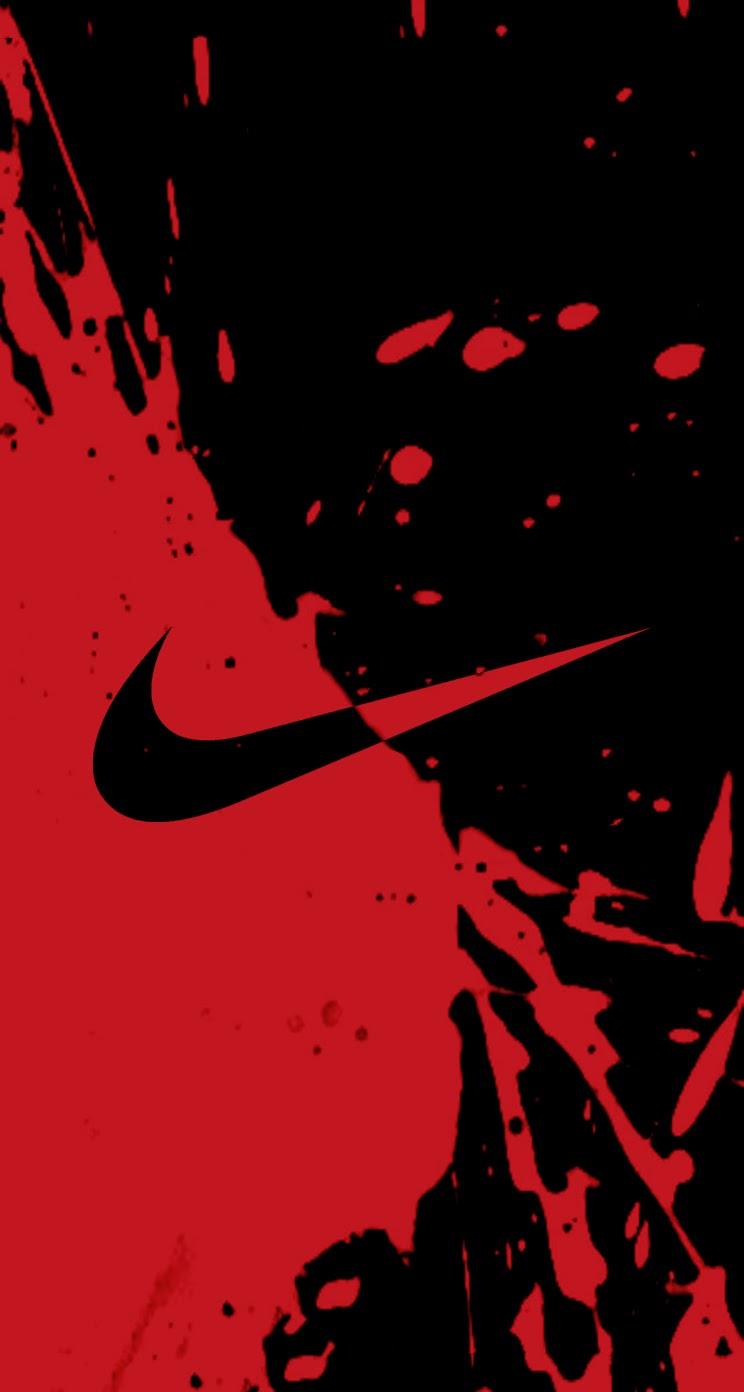 Red Nike Wallpaper Nike ink logo 744x1392