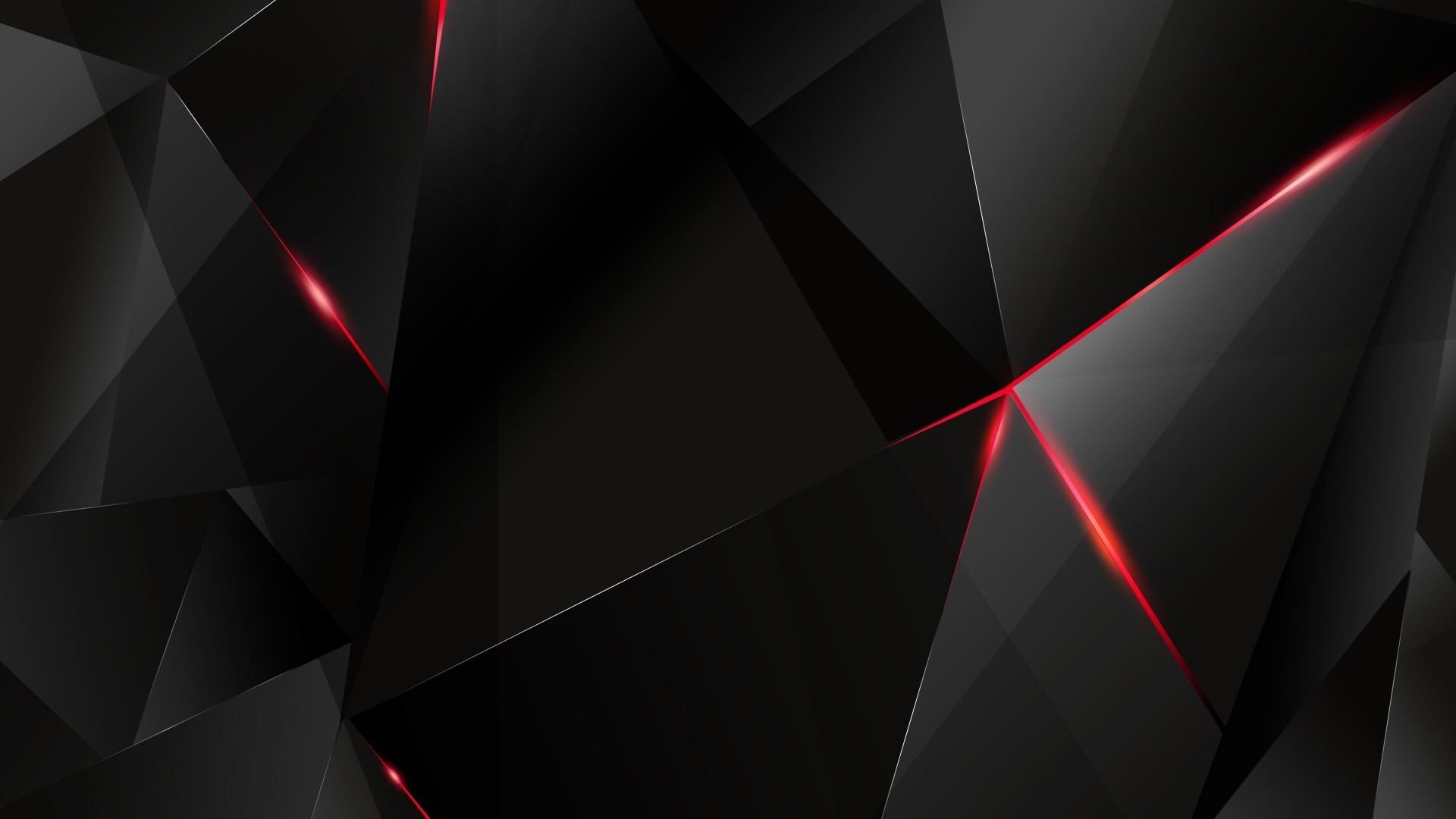 Black polygon with red edges abstract hd wallpaper 1920x1080 120 1920x1080