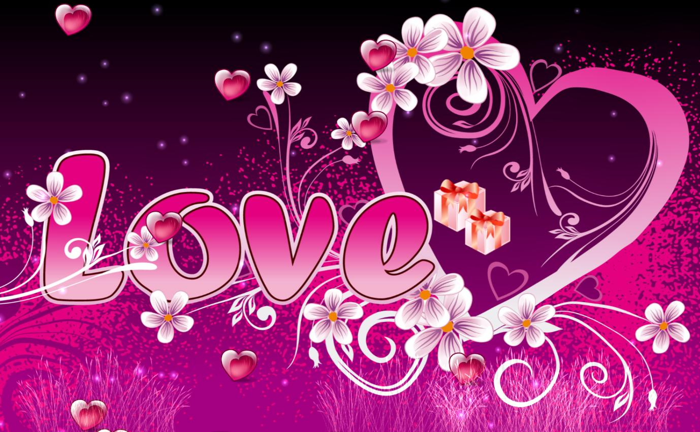 screen Share this animated wallpaper with your valentine 3 Love 1378x851