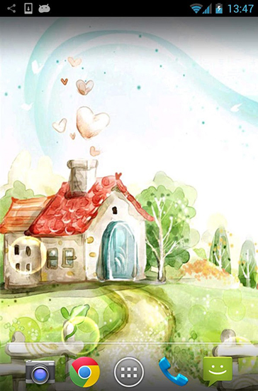 Beschreibung des Live Wallpaper Hand painted Von Hand gezeichnet 364x550