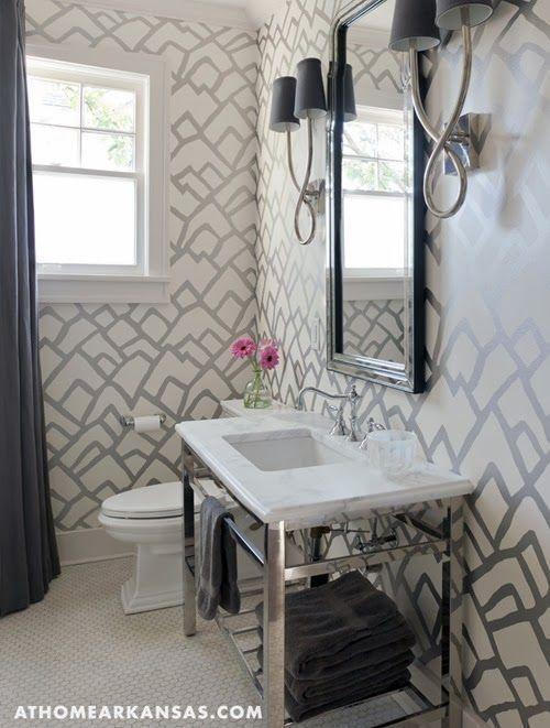 metallic wallpaper bathroom 2015   Grasscloth Wallpaper 500x661