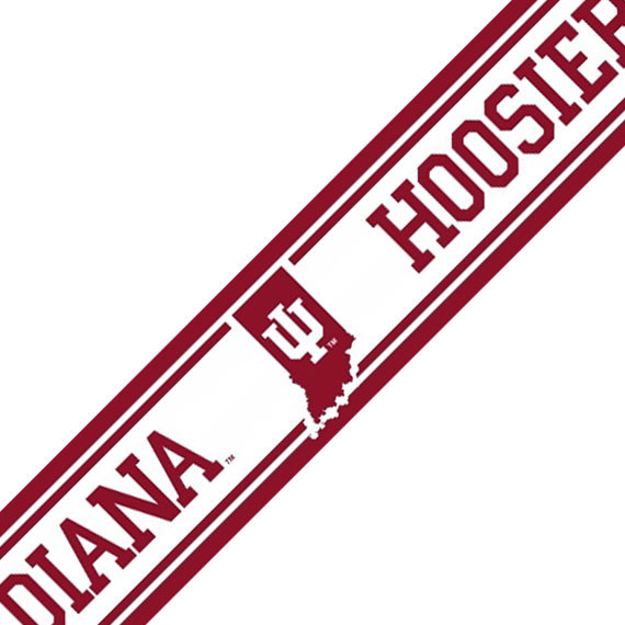 NCAA Indiana Hoosiers Prepasted Wallpaper Border Accent Roll 570x570