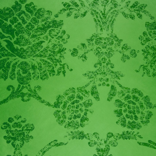 Sukumala Wallpaper A Emerald Green Distressed Antique Damask With 534x534