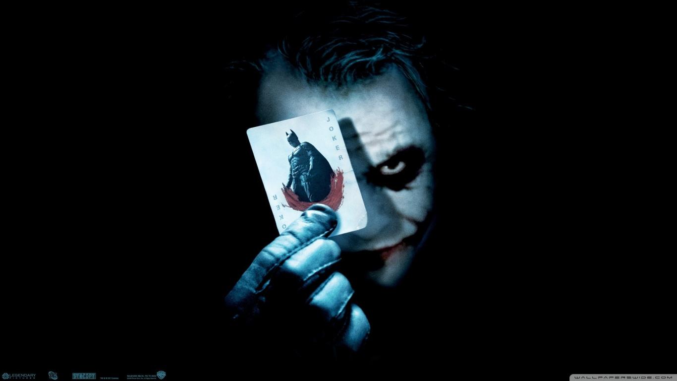 The Dark Knight Hd Desktop Wallpaper Widescreen High Definition Image 1366x768