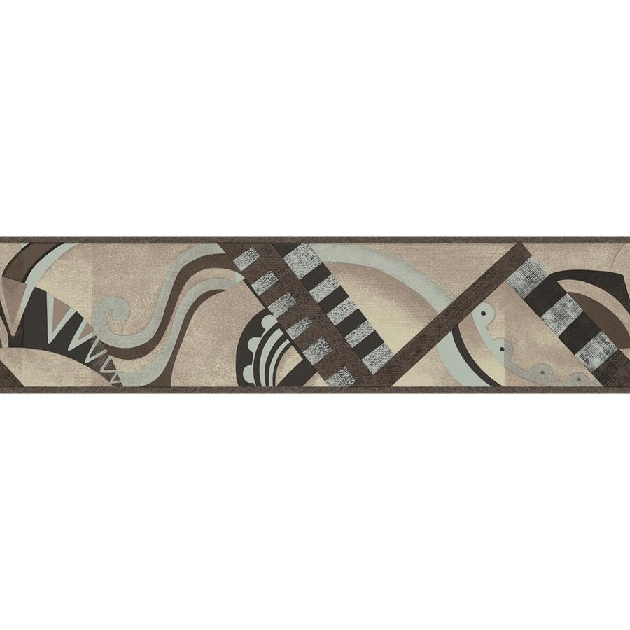 Neutral Geometric Scroll Prepasted Wallpaper Border at Lowescom 900x900
