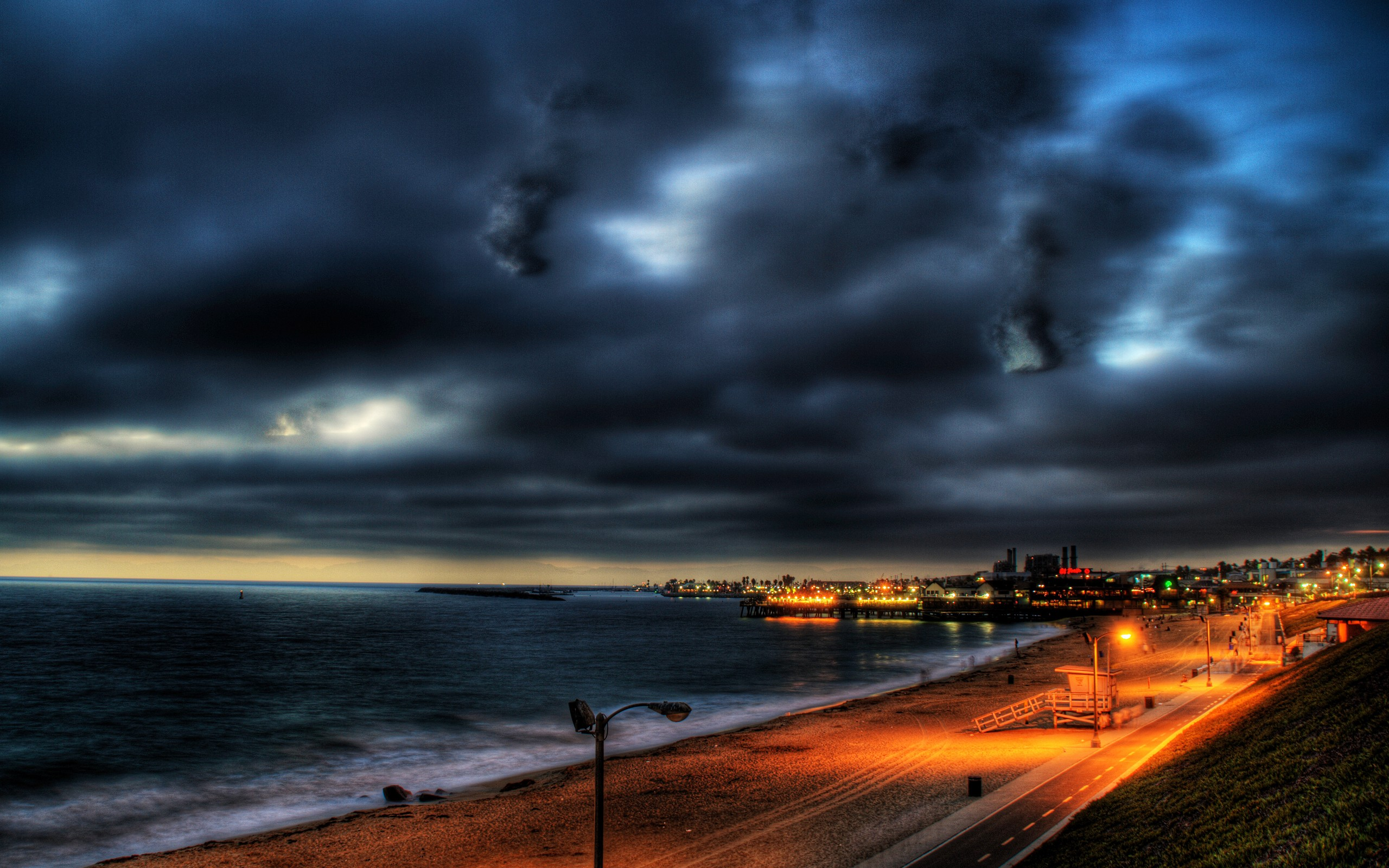 Night home los angeles skyscapes cities like redondo beach wallpaper ...