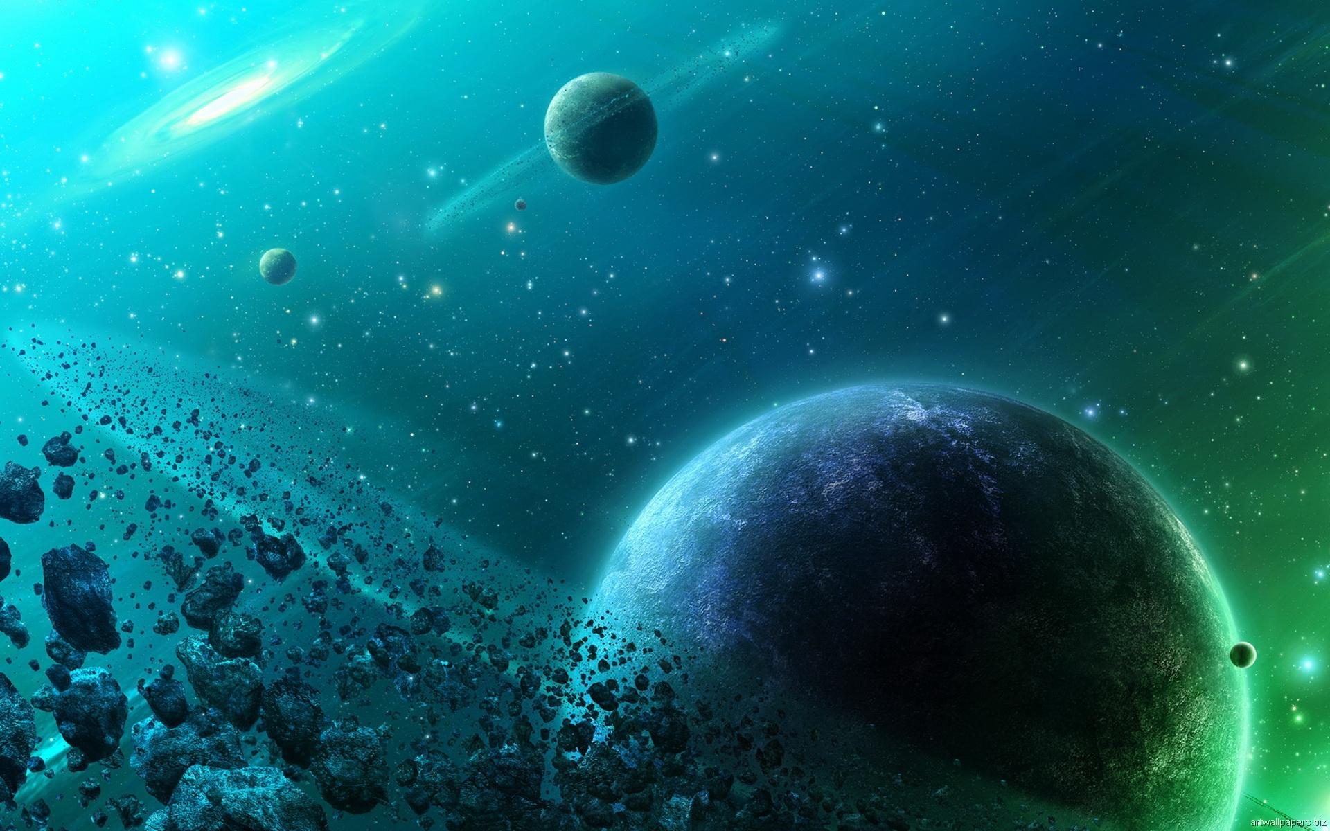 Обои Темная планета картинки на рабочий стол на тему Космос - скачать  № 1763063  скачать