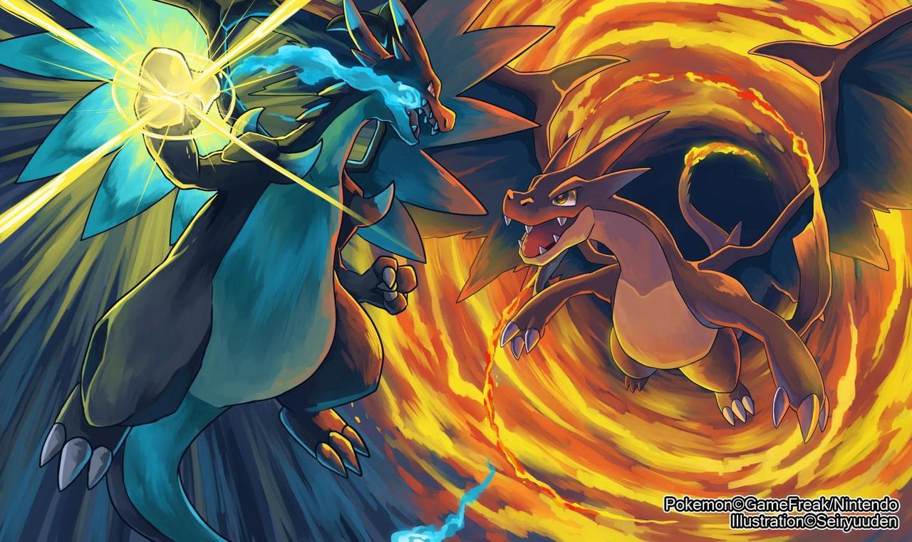 Pokemon mega evolution wallpaper wallpapersafari - Mega dracaufeu x et y ...