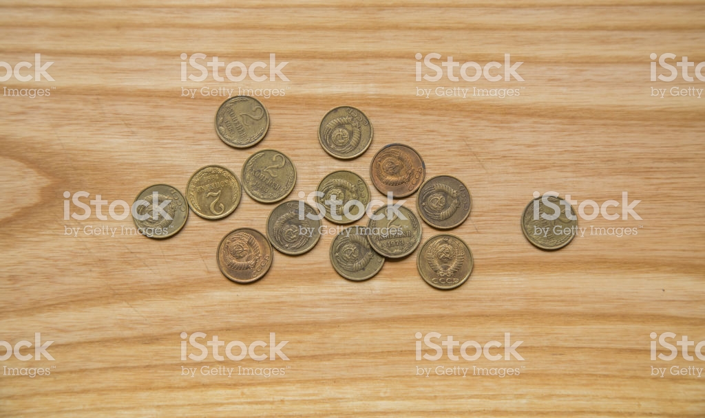 Old Soviet Couns On A Wooden Background Hisoric Used Currency 1024x608