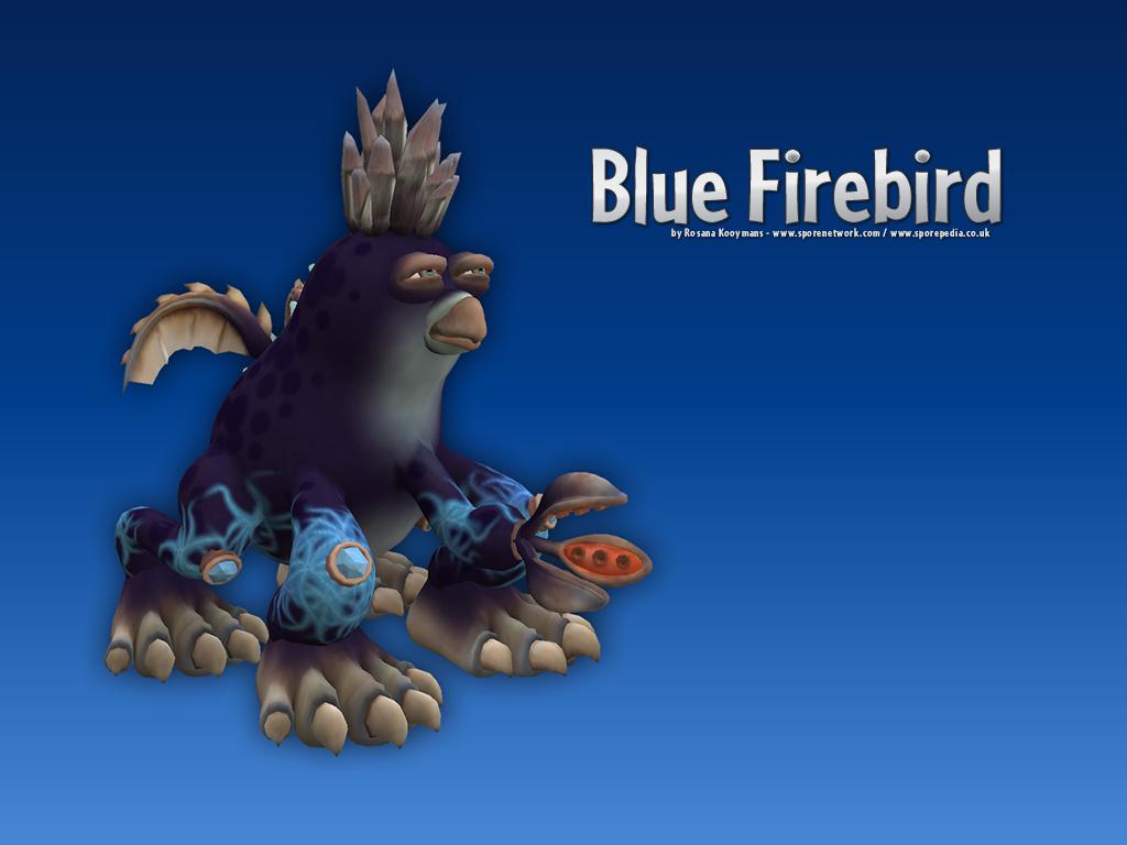 Blue Firebird Desktop Wallpapers Rosana Kooymans Art 1024x768