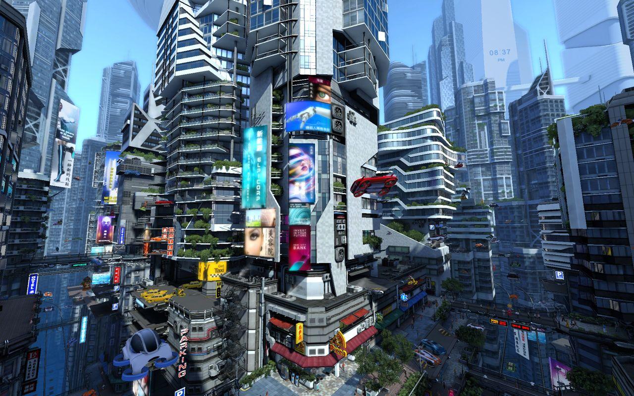 3d Futuristic City Wallpaper Wallpapersafari