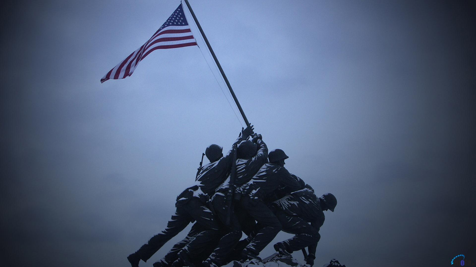 Wallpaper Marine Corps War Memorial 1920 x 1080 HDTV 1080p Desktop 1920x1080