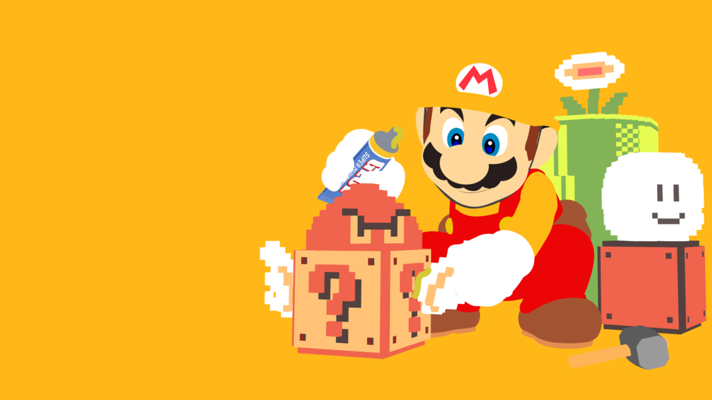 Free download Super Mario Maker Minimalist Wallpaper by BrulesCorrupted on  [1024x576] for your Desktop, Mobile & Tablet | Explore 47+ Super Mario  Wallpaper Maker | Super Mario Maker Wallpaper, Super Mario Wallpaper