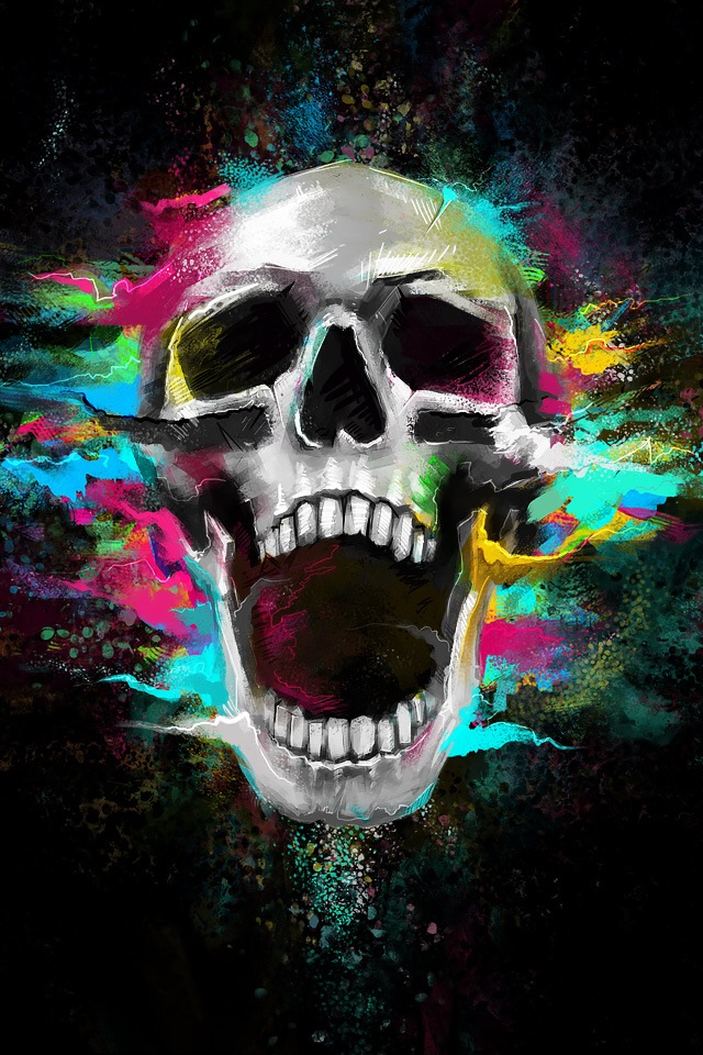 Crazy Shouting Skull iPhone 4s Wallpaper Download iPhone Wallpapers 640x960