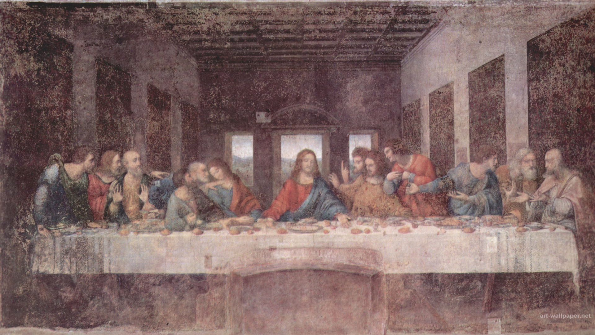 Last Supper Wallpaper The Last Supper Wallpaper Leonardo 1920x1080