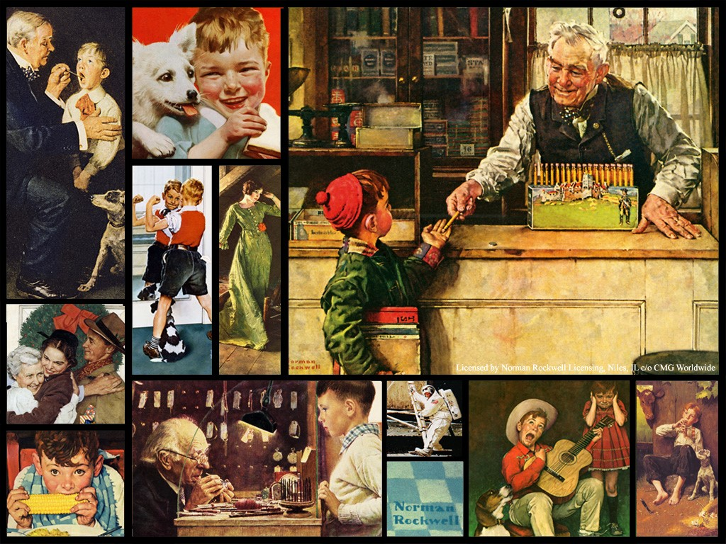 1024x768px Norman Rockwell Christmas Wallpaper Free - WallpaperSafari