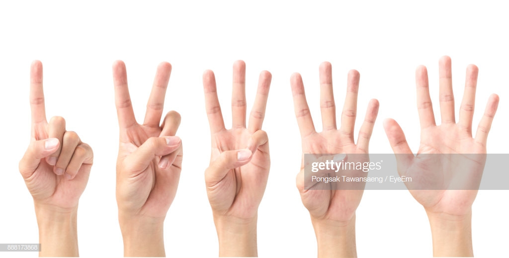 Closeup Of Human Hand Counting Against White Background Stock 1024x519