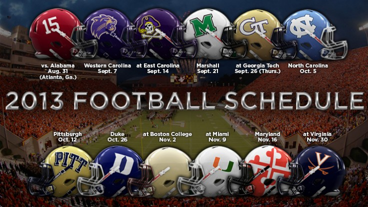 ACC releases 2013 football schedules 736x414