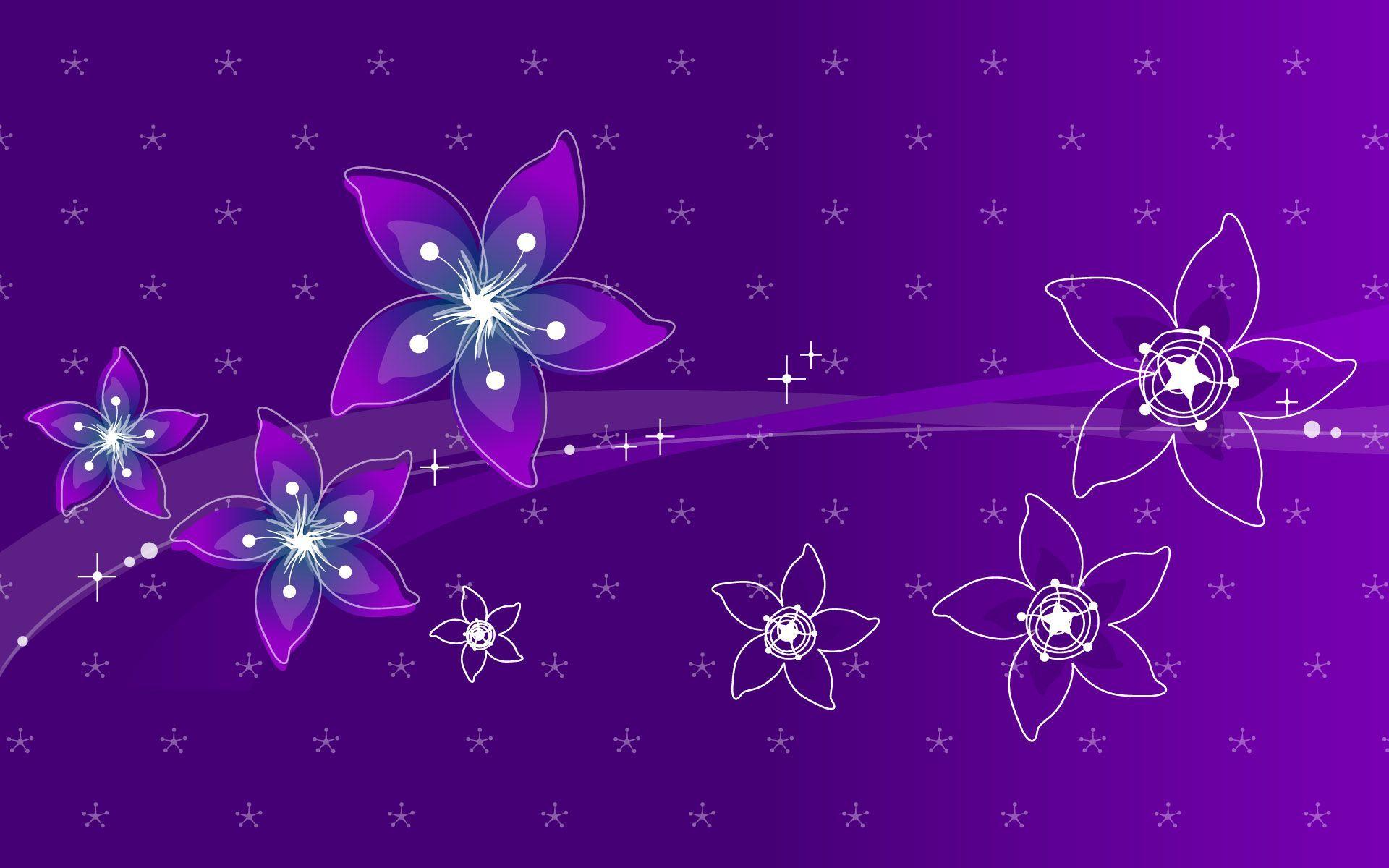 Purple flowers wallpaper   290305 1920x1200