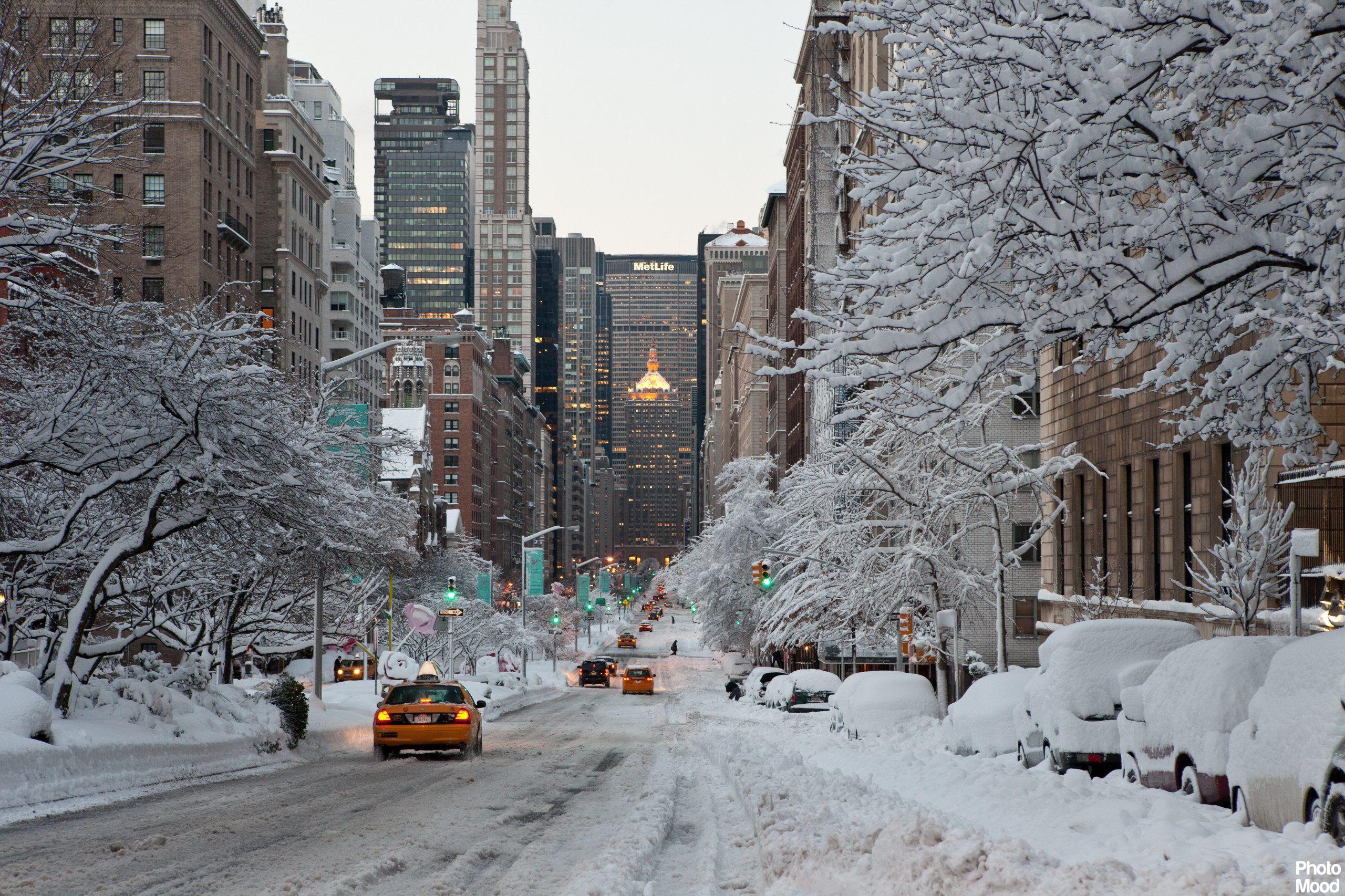 Winter in New York city Photo Mood 2560x1706