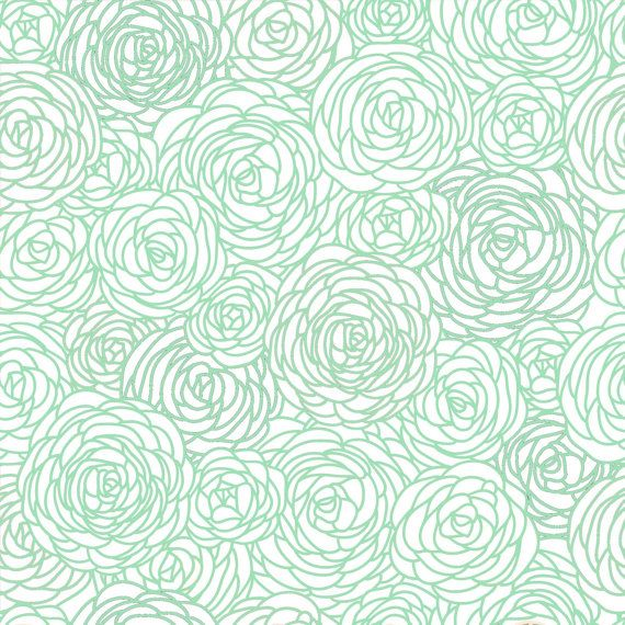 Removable Wallpaper Blossom Print Mint by GailWrightatHome 2000 570x570