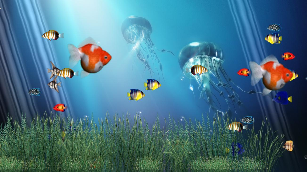 Любовь, картинки анимации на рабочий стол рыбки