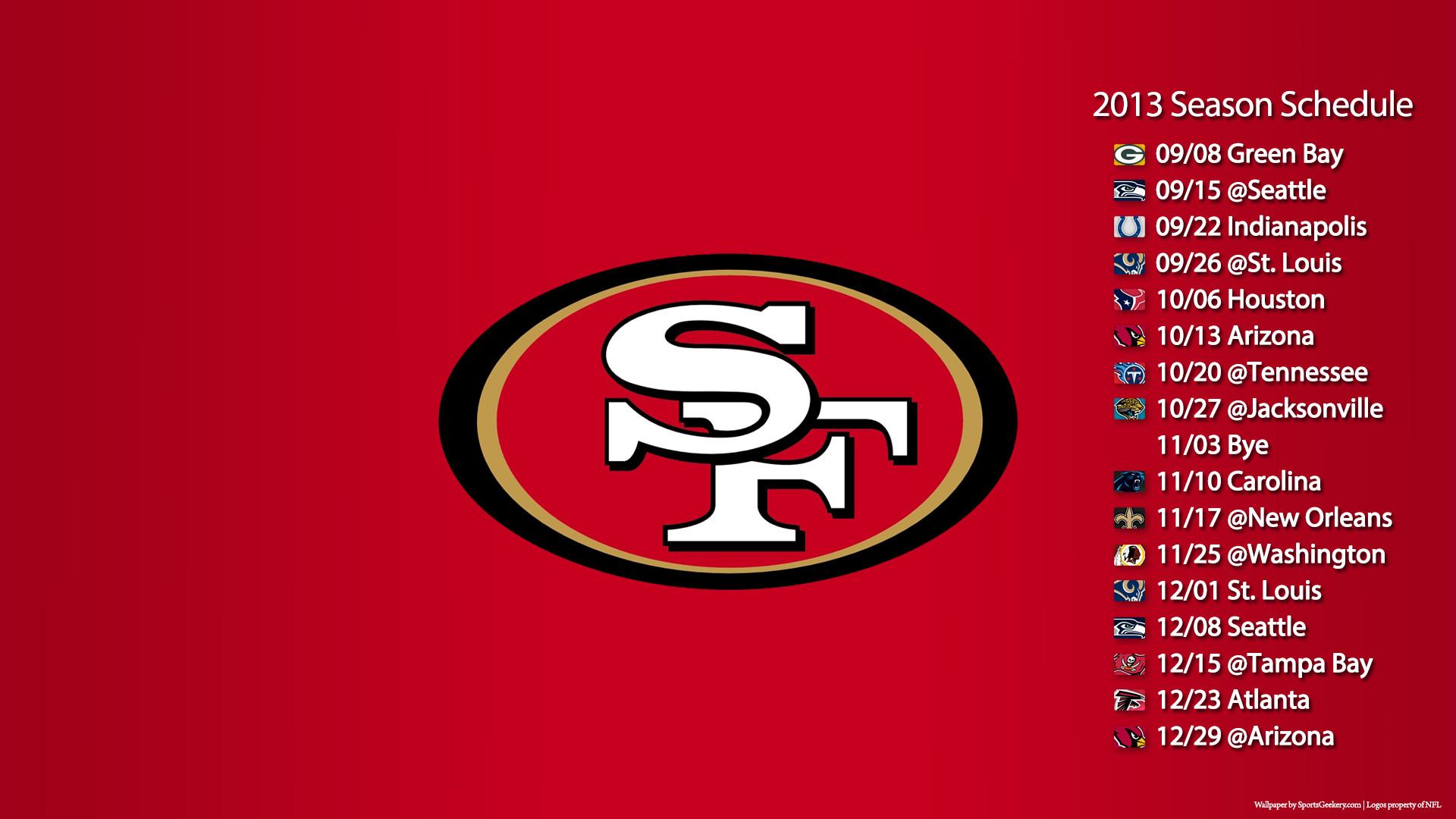 49ers 2015 Schedule Wallpapers 1920x1080